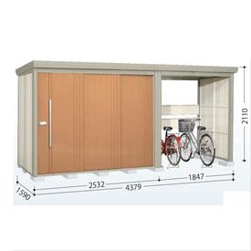 タクボ物置 TP/ストックマンプラスアルファ TP-43R15 一般型 標準屋根 『追加金額で工事も可能』 『駐輪スペース付 屋外用 物置 自転車収納 におすすめ』 トロピカルオレンジ