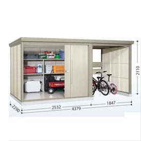 タクボ物置 TP/ストックマンプラスアルファ TP-Z43R22 一般型 結露減少屋根  『駐輪スペース付 屋外用 物置 自転車収納 におすすめ』 ムーンホワイト