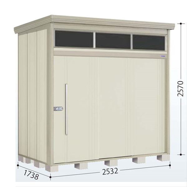 タクボ物置 JNA/トールマン ブライト JNA-Z2517W 一般型 結露減少屋根 『追加金額で工事も可能』 『屋外用中型・大型物置』 ムーンホワイト