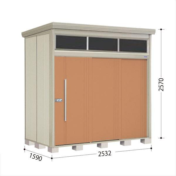 タクボ物置 JNA/トールマン ブライト JNA-S2515T 多雪型 標準屋根 『追加金額で工事も可能』 『屋外用中型・大型物置』 トロピカルオレンジ