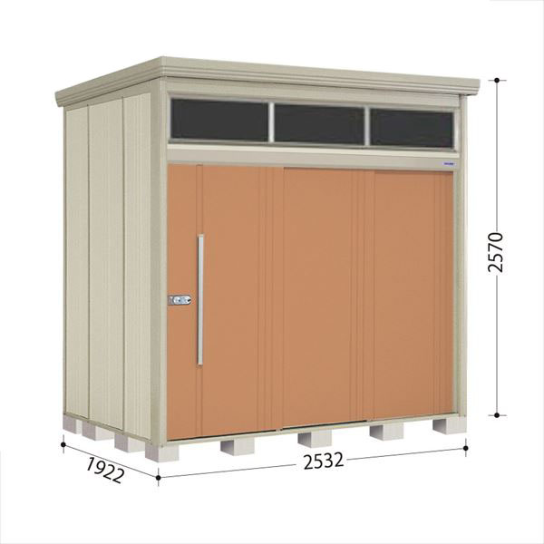 タクボ物置 JNA/トールマン ブライト JNA-2519T 一般型 標準屋根 『追加金額で工事も可能』 『屋外用中型・大型物置』 トロピカルオレンジ