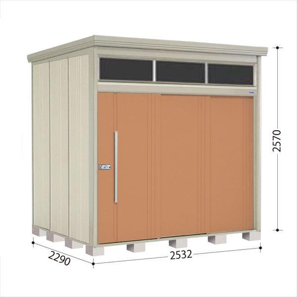 タクボ物置 JNA/トールマン ブライト JNA-2522T 一般型 標準屋根 『追加金額で工事も可能』 『屋外用中型・大型物置』 トロピカルオレンジ