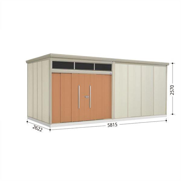 タクボ物置 JNA/トールマン ブライト JNA-5826T 一般型 標準屋根  『屋外用大型物置』 トロピカルオレンジ