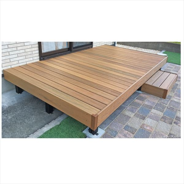 タカショー エバーエコウッドリアル デッキセット (床板115mm幅仕様) 1.5間×8尺 『ウッドデッキ 人工木』 エバーエコウッドリアル