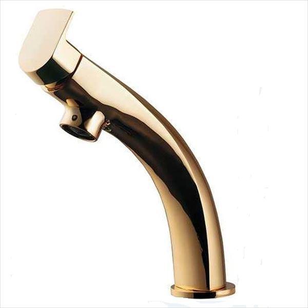 送料無料【カクダイ】洗面所をドラマチックに変貌させます。 カクダイ 水栓金具 月 シングルレバー混合栓 183-152-G ゴールド