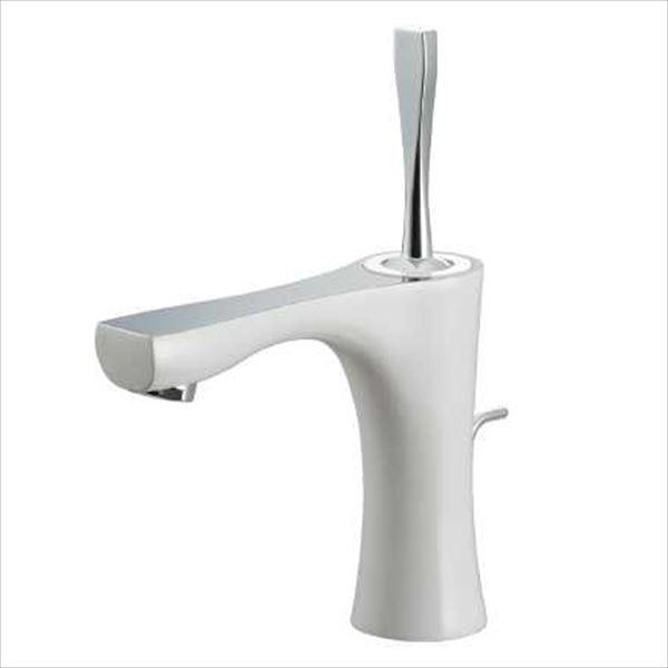 カクダイ 水栓金具 神楽 シングルレバー混合栓(ホワイト) 引棒付き(直径4ミリ) 183-230GN-W