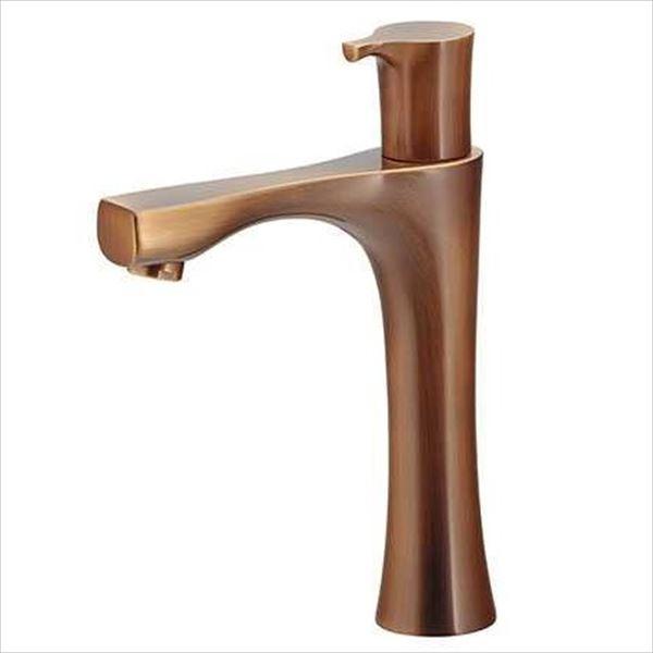 【カクダイ】洗面所をドラマチックに変貌させます。 カクダイ 水栓金具 神楽 立水栓(ミドル・オールドブラス) 716-875-13