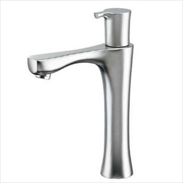 カクダイ 水栓金具 神楽 立水栓(ミドル・マットシルバー) 716-863-13