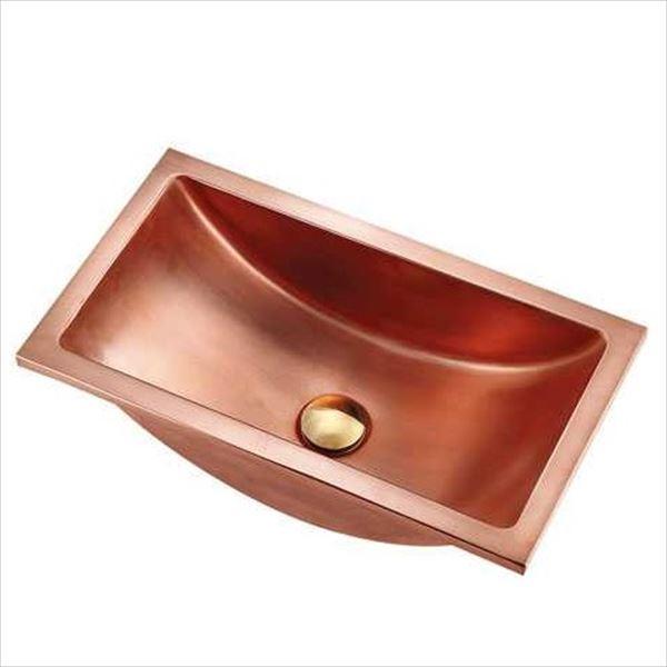 カクダイ 特殊水栓 機巧殺菌 アカガネ 角型手洗器 専用丸鉢金物・化粧キャップ付き 493-131