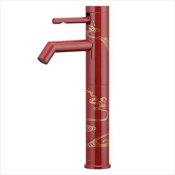 カクダイ 水栓金具 緋 ひ シングルレバー立水栓(ミドル) 漆塗り 716-211-13