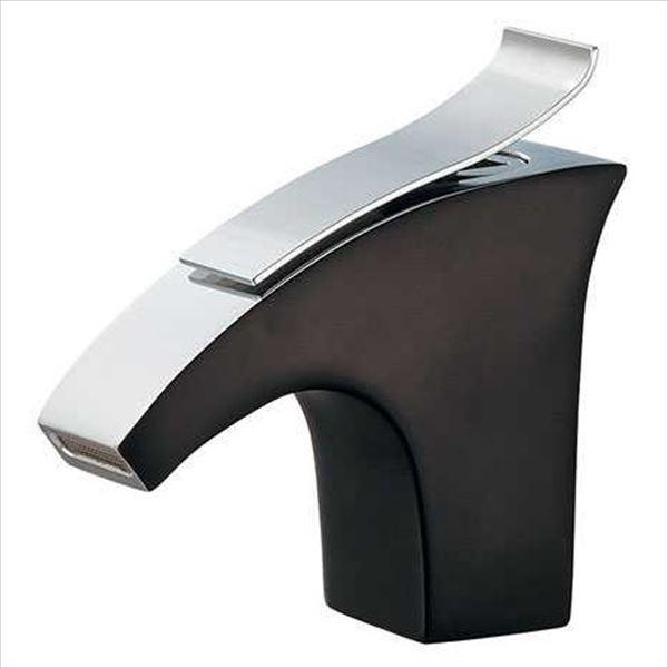 カクダイ 水栓金具 ELLIS 立水栓(ブラック) 716-242-13