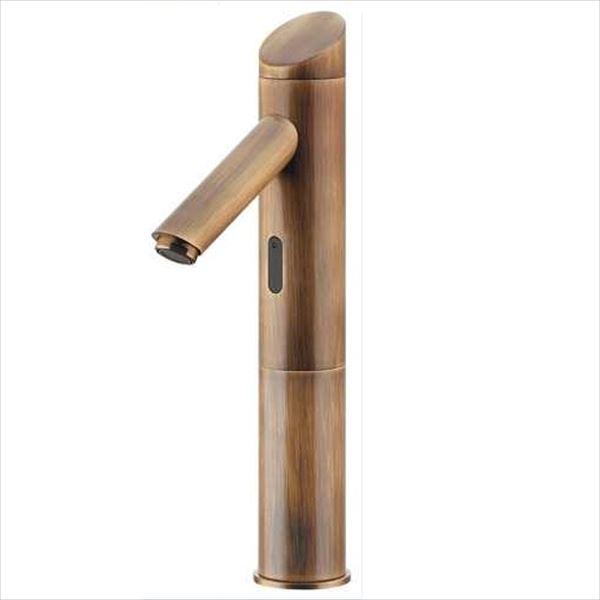 カクダイ 水栓金具 能 のう センサー水栓(トール・オールドブラス) 713-334