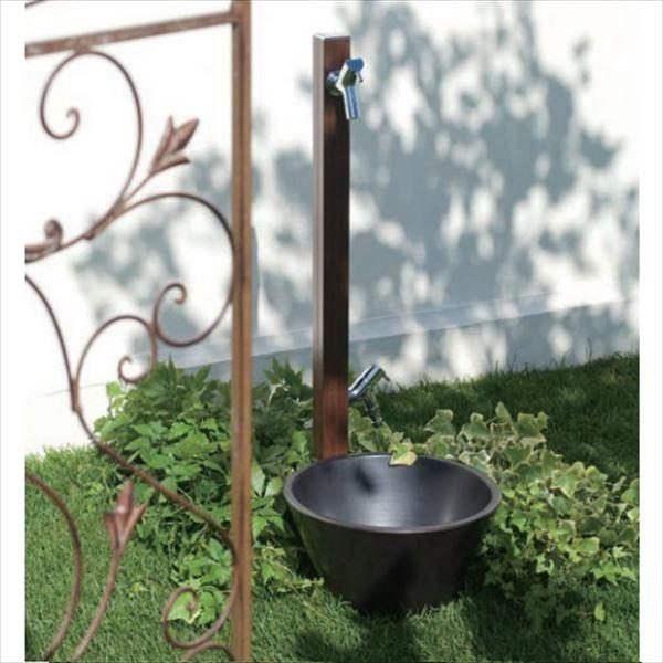 オンリーワン アクアルージュW 水栓柱 TK3-SKWDP +水鉢セット   ダークパイン