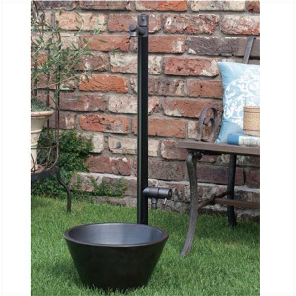 オンリーワン ジラーレW ブラックブロンズメッキ 水栓柱 TK3-SAWBB (専用蛇口・補助蛇口付属)+水鉢セット   ブラックブロンズメッキ
