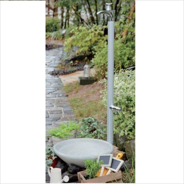 オンリーワン ドラーゴ 水栓柱 HV3-G12DS (補助蛇口付)+パンセット   シルバー, 邑智郡 b623009d