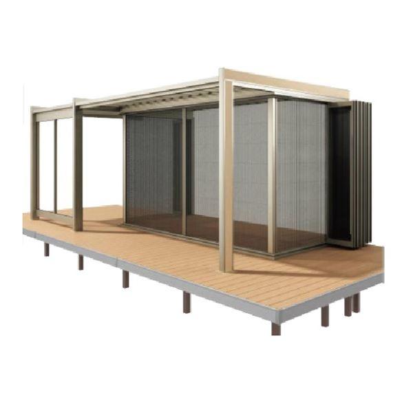 四国化成 ガーデンルーム F.リード憩 キューブタイプ オプション 折りたたみ網戸(バリアフリータイプ) 間口4231mm×8尺用 FI-NOAQB4224SC