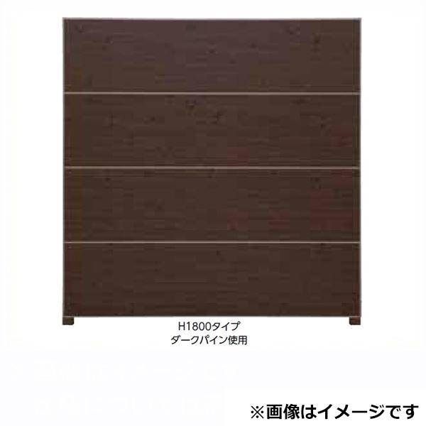 タカショー  エバーアートボードフェンス 2型セット 両面 60角柱 両柱 聚楽白茶(受注生産品)※見切材ステン