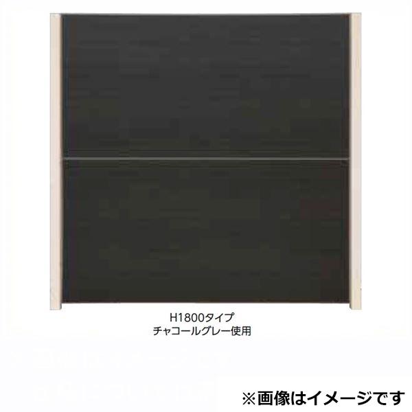 タカショー  エバーアートボードフェンス 3型セット 片面 60角柱 両柱 琉川白茶(受注生産品)※見切材ステン