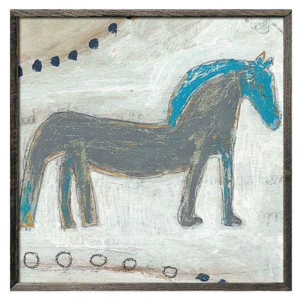 スパイス SUGARBOO HORSE WITH BLUE MANE #AP266-GW-24x24inch