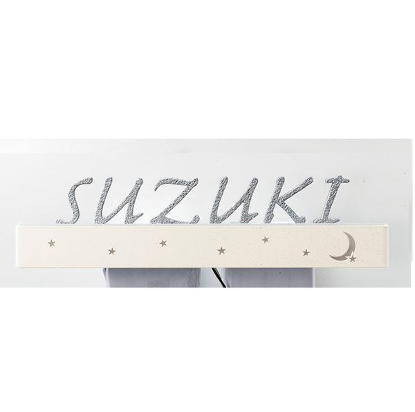 美濃クラフト LEDバックライト表札シリーズ 鋳物文字+LED CL-7 (名字のみ) 『表札 サイン 戸建』