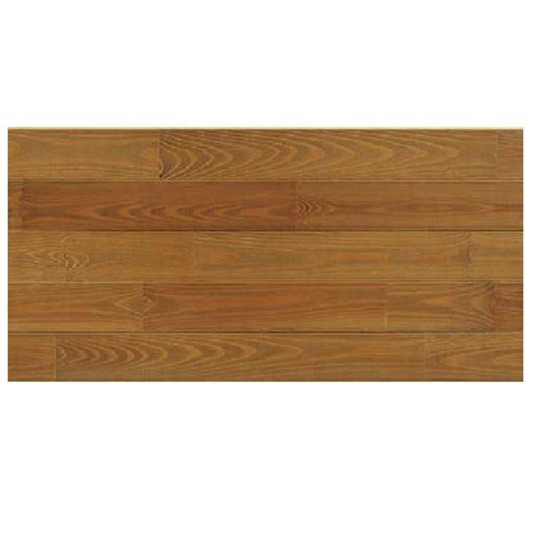 天然木部材 エコプレーゼ あづみの松 無地上小グレード LIVOSオイル塗装 幅152mm 6枚入り 受注生産 ダークブラウン色 #WPFL0041