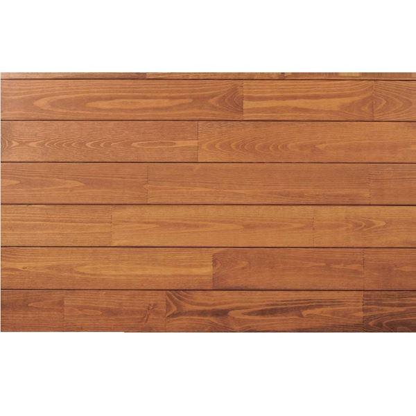天然木部材 あづみの松 無地上小グレード UVハードコート塗装 幅152mm 6枚入り 受注生産 (ナッツブラウン) #WPFL0573