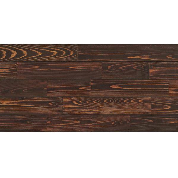 天然木部材 あづみの松 無地上小グレード UVハードコート塗装 幅152mm 6枚入り 受注生産 (チョコレート) #WPFL0204