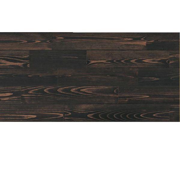 天然木部材 あづみの松 無地上小グレード Sコート塗装 幅152mm 6枚入り 受注生産 (ブラックブラック) #WPFL0579