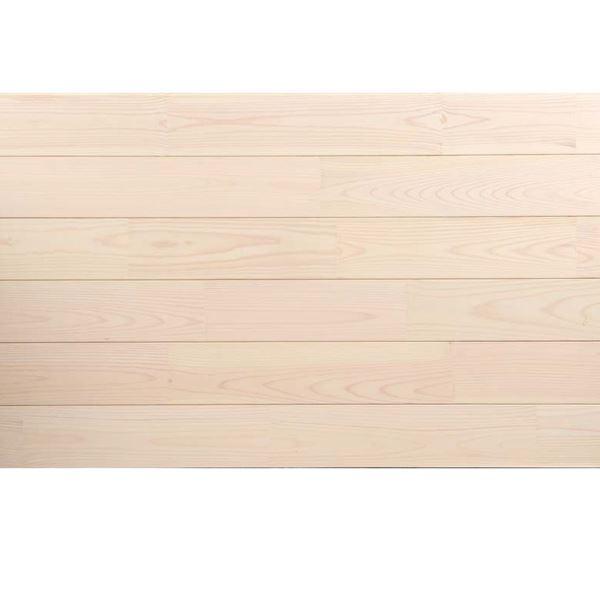 天然木部材 あづみの松 無地上小グレード Sコート塗装 幅152mm 6枚入り 受注生産 (ピュアホワイト) #WPFL0580