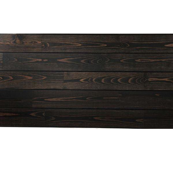 天然木部材 あづみの松 無地上小グレード Tコート塗装 幅152mm 6枚入り 受注生産 (ブラックブラック) #WPFL0585