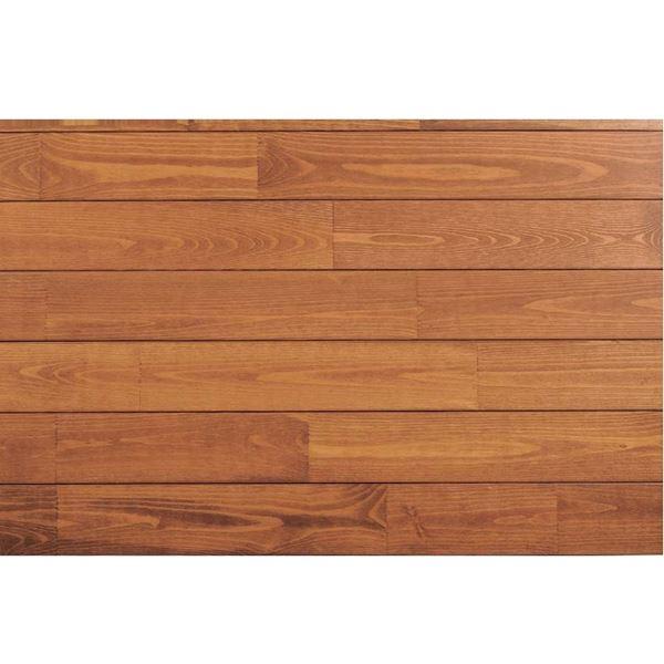 天然木部材 あづみの松 無地上小グレード Tコート塗装 幅152mm 6枚入り 受注生産 (ナッツブラウン) #WPFL0587