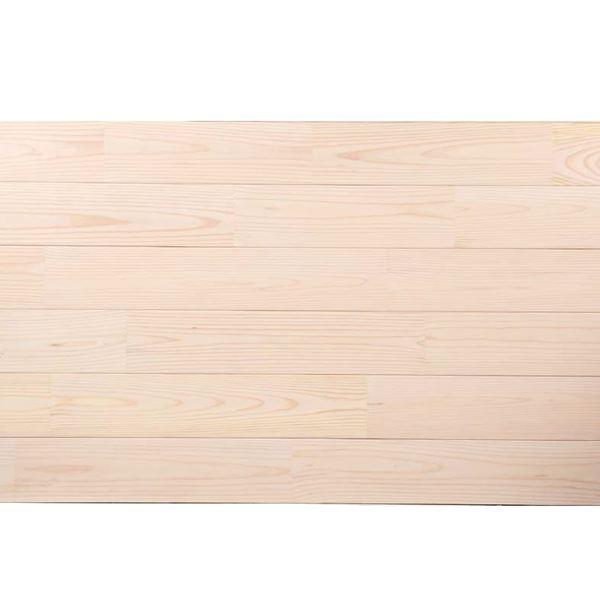天然木部材 あづみの松 無地上小グレード Tコート塗装 幅114mm 8枚入り 受注生産 (ピュアホワイト) #WPFL0522