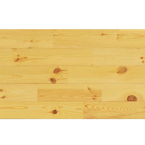 天然木部材 エコプレーゼ あづみの松 節有グレード LIVOSオイル塗装 幅114mm 8枚入り 受注生産 (ナチュラル色) #WPFL0104