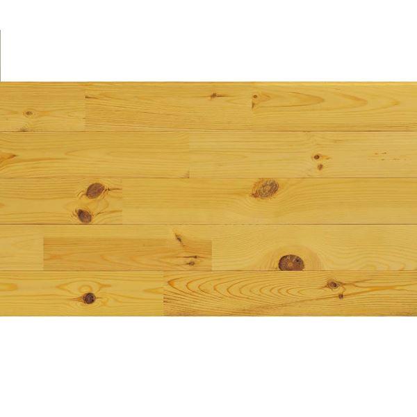 天然木部材 エコプレーゼ あづみの松 節有グレード LIVOSオイル塗装 幅114mm 8枚入り 受注生産 (オーク色) #WPFL0109