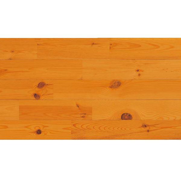 天然木部材 エコプレーゼ あづみの松 節有グレード LIVOSオイル塗装 幅152mm 6枚入り 受注生産 (ブラジル色) #WPFL0127