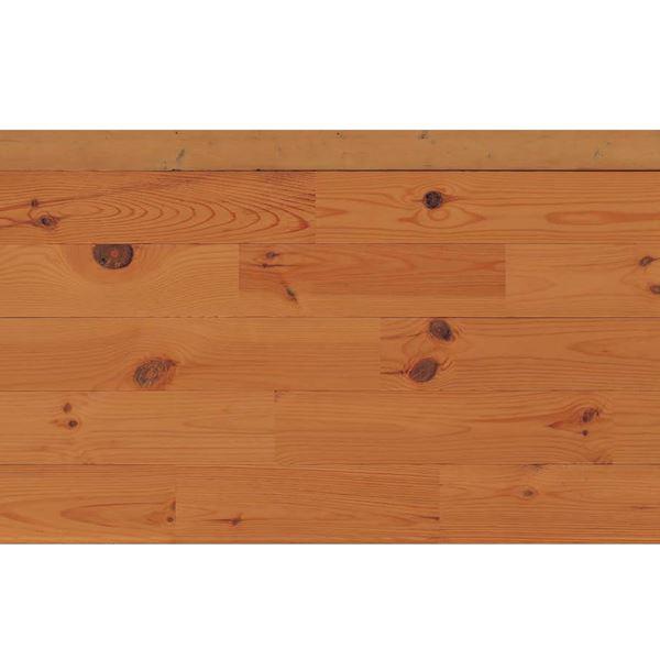 天然木部材 エコプレーゼ あづみの松 節有グレード LIVOSオイル塗装 幅152mm 6枚入り 受注生産 (ローズウッド色) #WPFL0129
