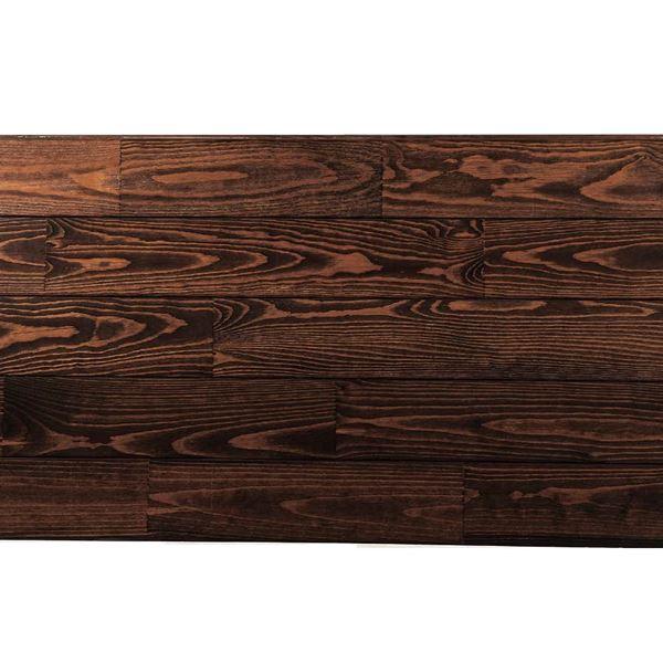 天然木部材 あづみの松 節有グレード UVナチュラルコート塗装 幅152mm 6枚入り 受注生産 (チョコレート) #WPFL0117
