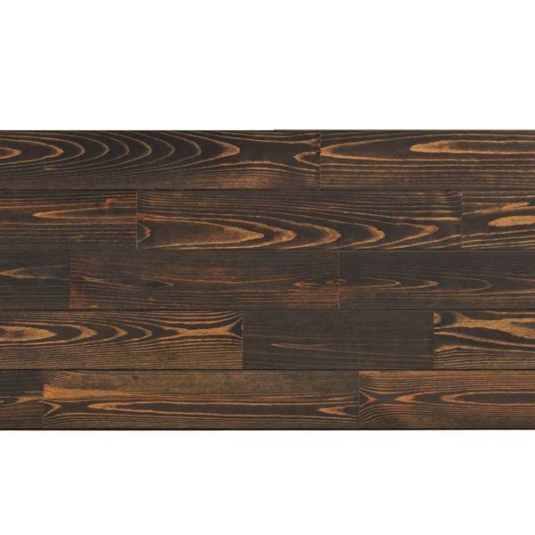 天然木部材 あづみの松 節有グレード UVナチュラルコート塗装 幅152mm 6枚入り 受注生産 (ブラックブラック) #WPFL0119