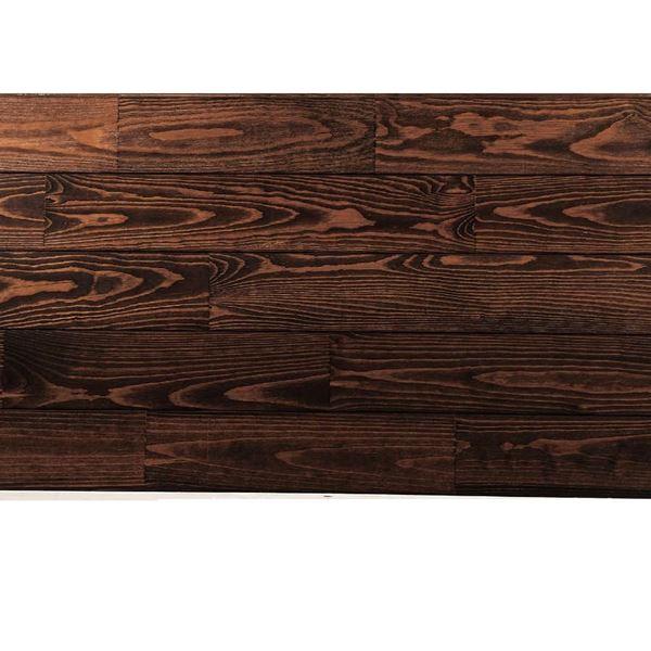 天然木部材 あづみの松 節有グレード UVハードコート塗装 幅114mm 8枚入り 受注生産 (チョコレート) #WPFL0216
