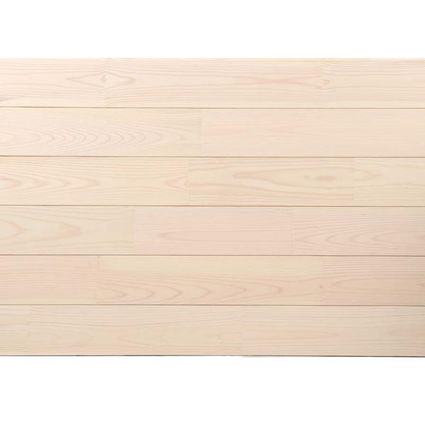 天然木部材 あづみの松 節有グレード UVハードコート塗装 幅114mm 8枚入り 受注生産 (ピュアホワイト) #WPFL0540