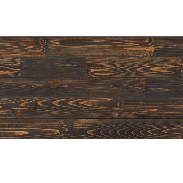 天然木部材 あづみの松 節有グレード Sコート塗装 幅114mm 8枚入り 受注生産 (ブラックブラック) #WPFL0547