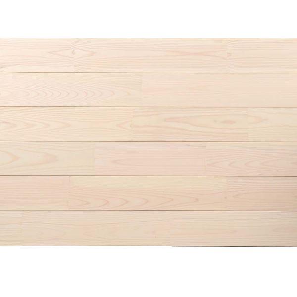 天然木部材 あづみの松 節有グレード Sコート塗装 幅152mm 6枚入り 受注生産 (ピュアホワイト) #WPFL0612