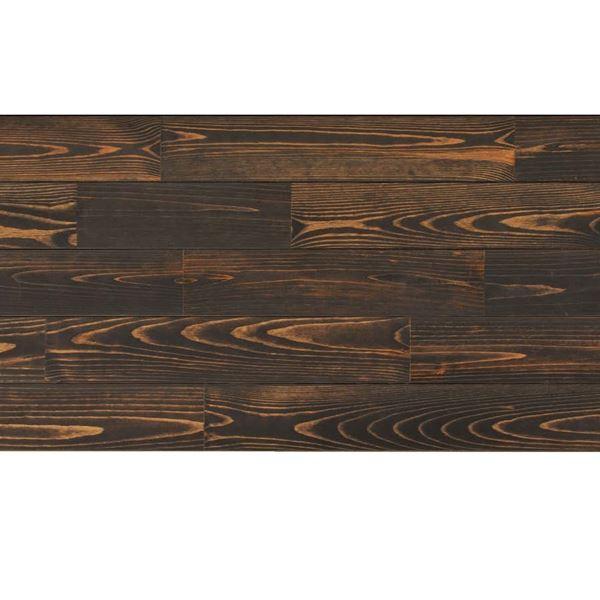 天然木部材 あづみの松 節有グレード Tコート塗装 幅152mm 6枚入り 受注生産 (ブラックブラック) #WPFL0617