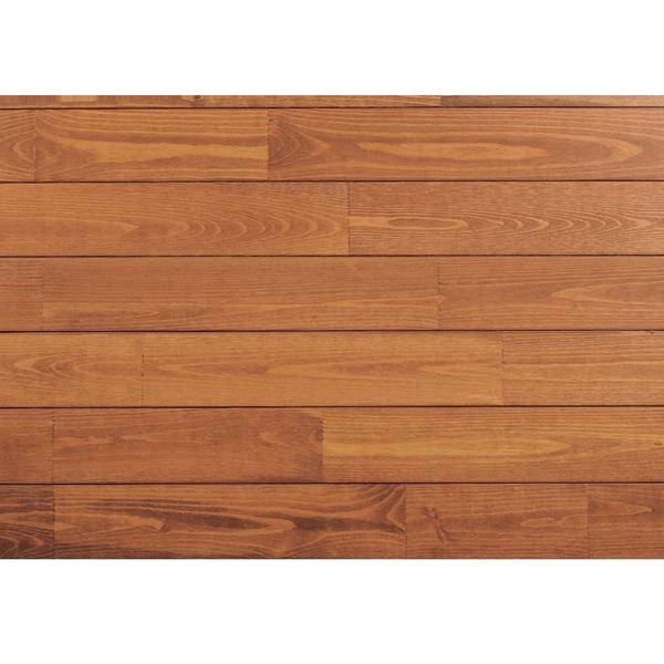 天然木部材 あづみの松 節有グレード Tコート塗装 幅152mm 6枚入り 受注生産 (ナッツブラウン) #WPFL0619