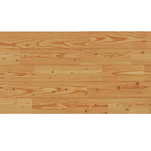 天然木部材 エコプレーゼ あづみのカラ松 節有グレード LIVOSオイル塗装 幅114mm 8枚入り 受注生産 (ナチュラル色) #WPFL0181