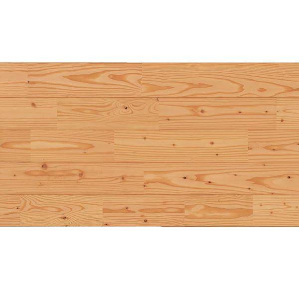 天然木部材 あづみのカラ松 節有グレード Sコート塗装 幅152mm 6枚入り 受注生産 (クリア) #WPFL0648