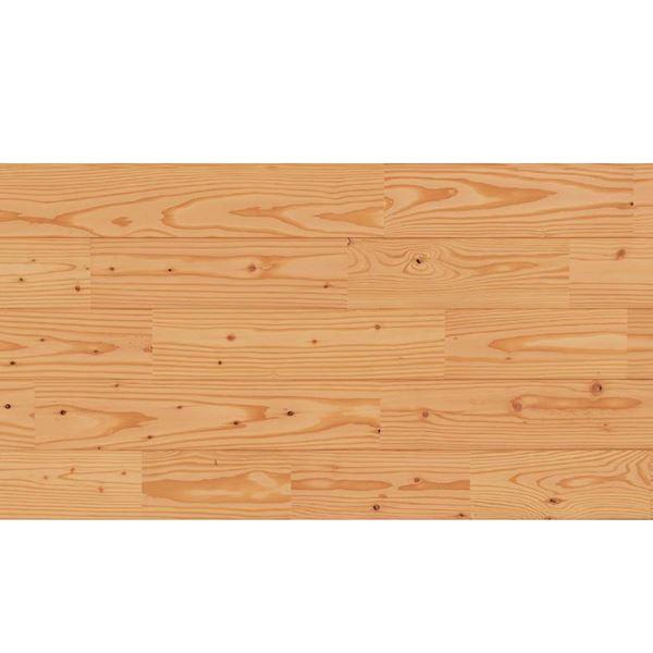 天然木部材 あづみのカラ松 節有グレード Tコート塗装 幅114mm 8枚入り 受注生産 (クリア) #WPFL0641