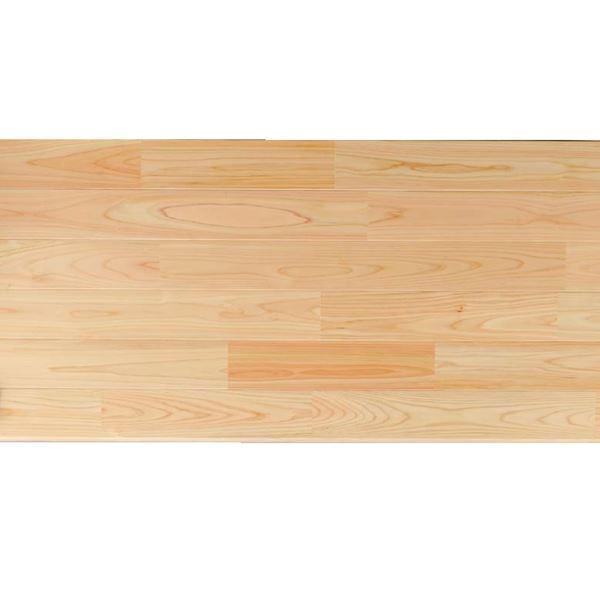 プレイリーホームズ あづみの桧 無地上小グレード UVハードコート塗装 幅114mm 8枚入り 受注生産 (クリア) #WPFL0369