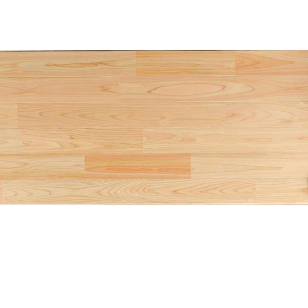天然木部材 あづみの桧 無地上小グレード Tコート塗装 幅114mm 8枚入り 受注生産 (クリア) #WPFL0397