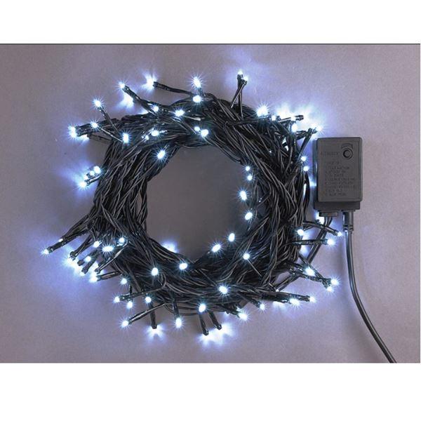 コロナ産業 LEDストレートコード200球(ブラックコード)  LRK200W 白 『イルミネーションライト』 白